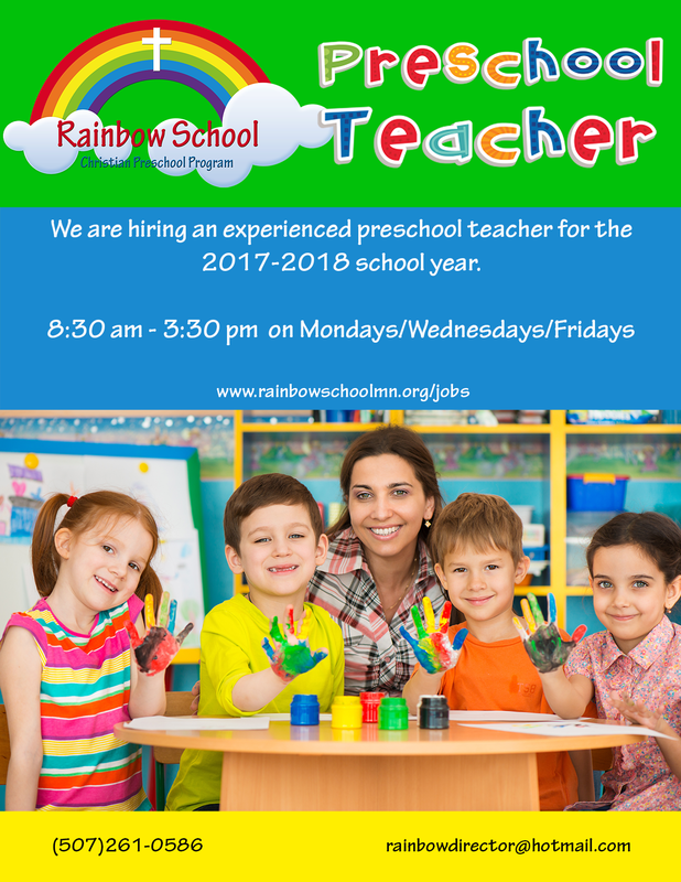 Rainbow School Teacher Jobs - Rainbow School - Christian Preschool ...